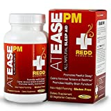 Redd Remedies At Ease PM - All Natural Sleep Aid - Lowers Chance Of Sleeplessness And Restlessness - Promotes Restful Sleep - 30 Vegetarian Capsules (FFP)