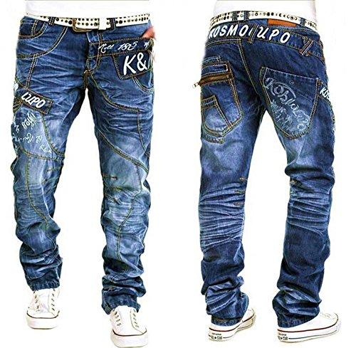 Kosmo Lupo Herren Jeanshose blau Blau