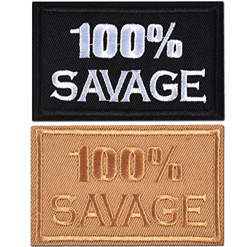 2 Pieces 100% Savage Military Tactical Clothing Accessory Backpack Armband Sticker Embroidery Decorative Patch