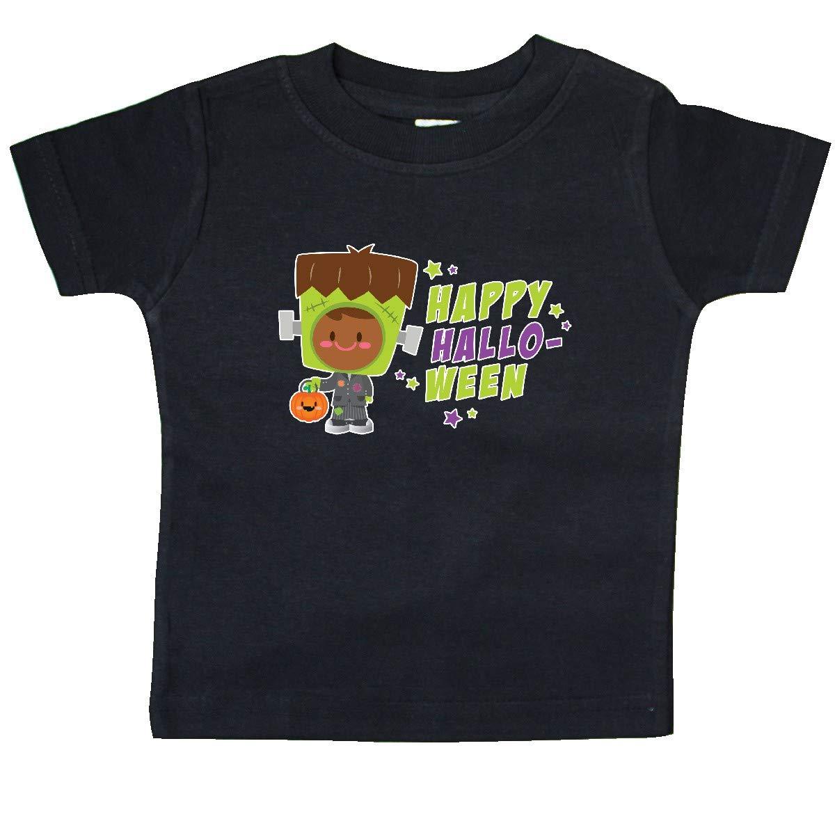 inktastic Happy Halloween Frankenstein Kid with Brown Hair Baby T-Shirt