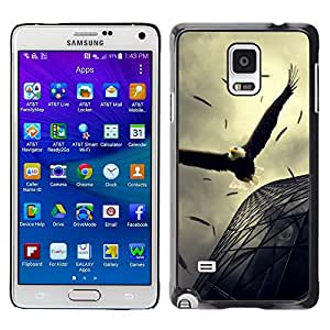 Stuss Case / Funda Carcasa protectora - Eagle Soaring Flight Architecture Powerful - Samsung Galaxy Note 4 SM-N910