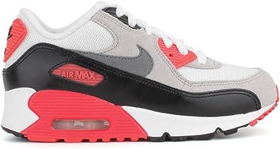 Nike Air Max 90 Premium Infrared Preschool Boys White