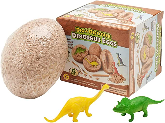 enfants du parti DINOSAUR EGG Excavation Kit-Fossile œuf oeufs-Excavation Kit Age 4