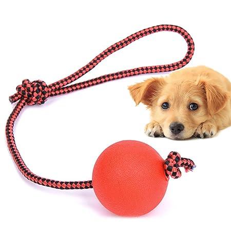 UNKE Pelota de Perro Indestructible con Cuerda para Mascotas ...