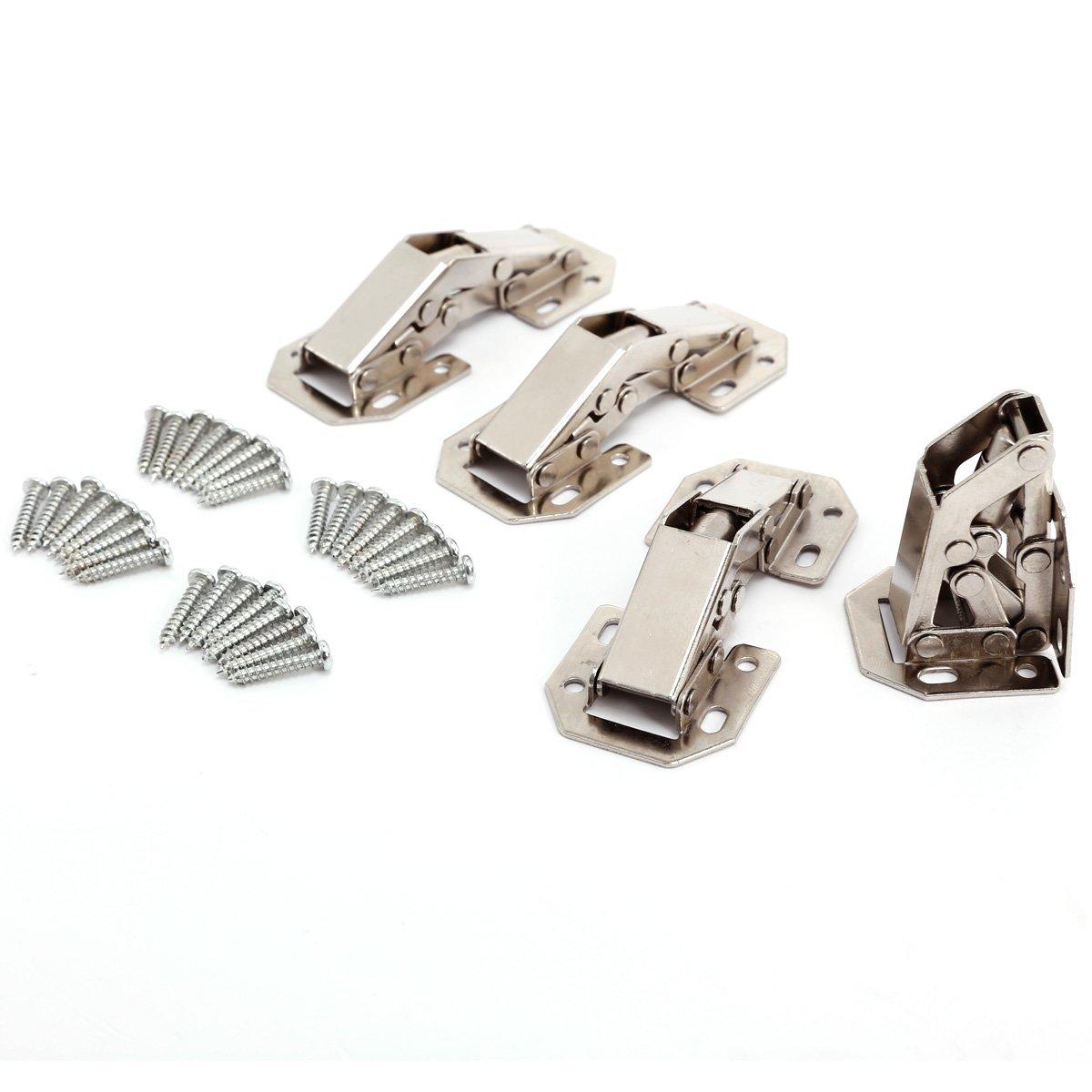4xTopfband Topfb/änder Eckanschlag Scharnier Topfscharniere mit D/ämpfer Kreuzplatte Clip Scharnier Scharniere Automatikscharnier