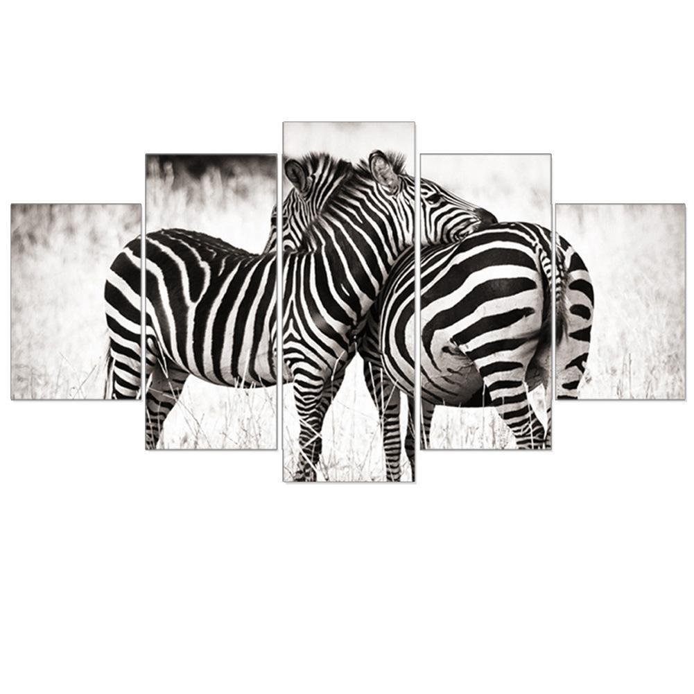 Giclée-Druck Extra große Leinwand Schwarz-Weiß Zebra Wohnzimmer dekorative Wandmalereien , With Borders , GrößeA B076P9T5KL | Verkauf