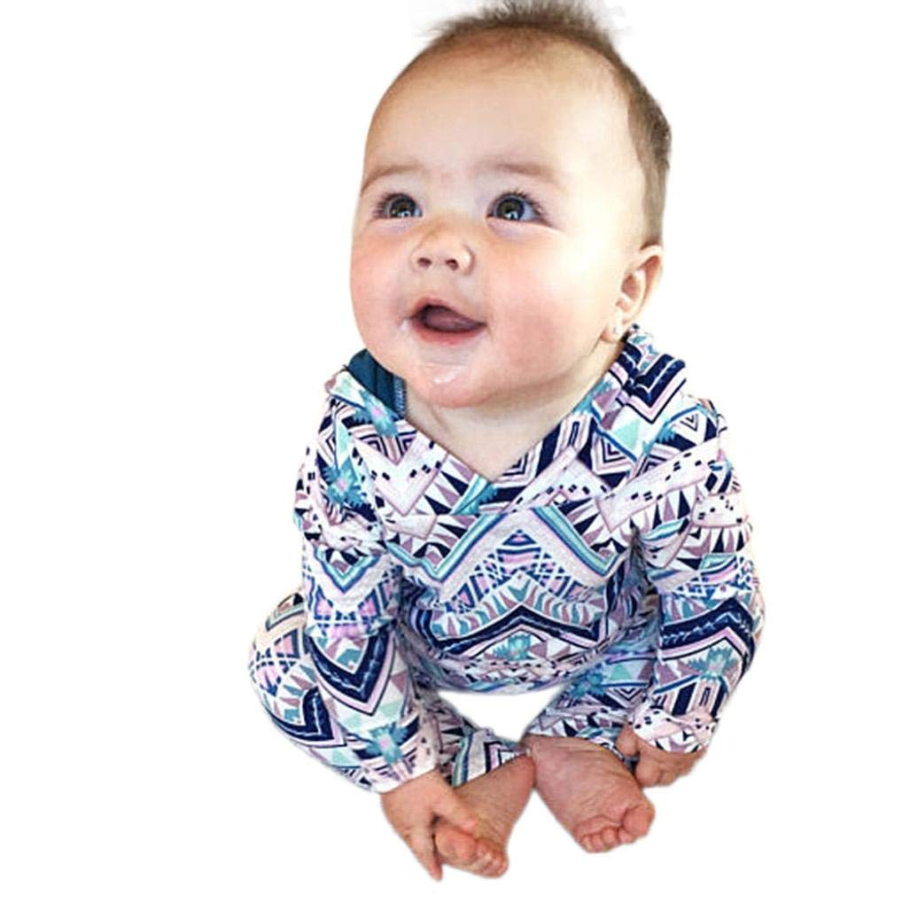 GoodLock Clearance!! Baby Boys Girls Romper Toddler Infant Print Hooded Romper Jumpsuit Outfits Clothing (Multicolor, 24 Months)
