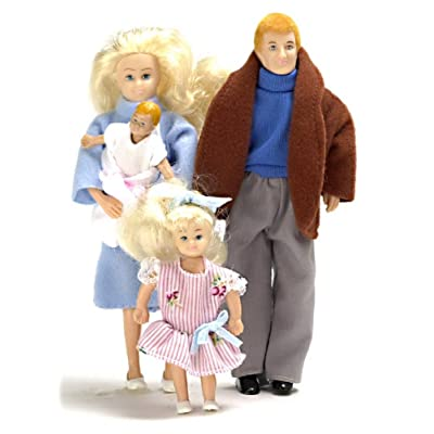 Dollhouse Miniature 1:12 Scale Modern Family of 4 People Mum Dad Girl Baby: Toys & Games [5Bkhe0500308]