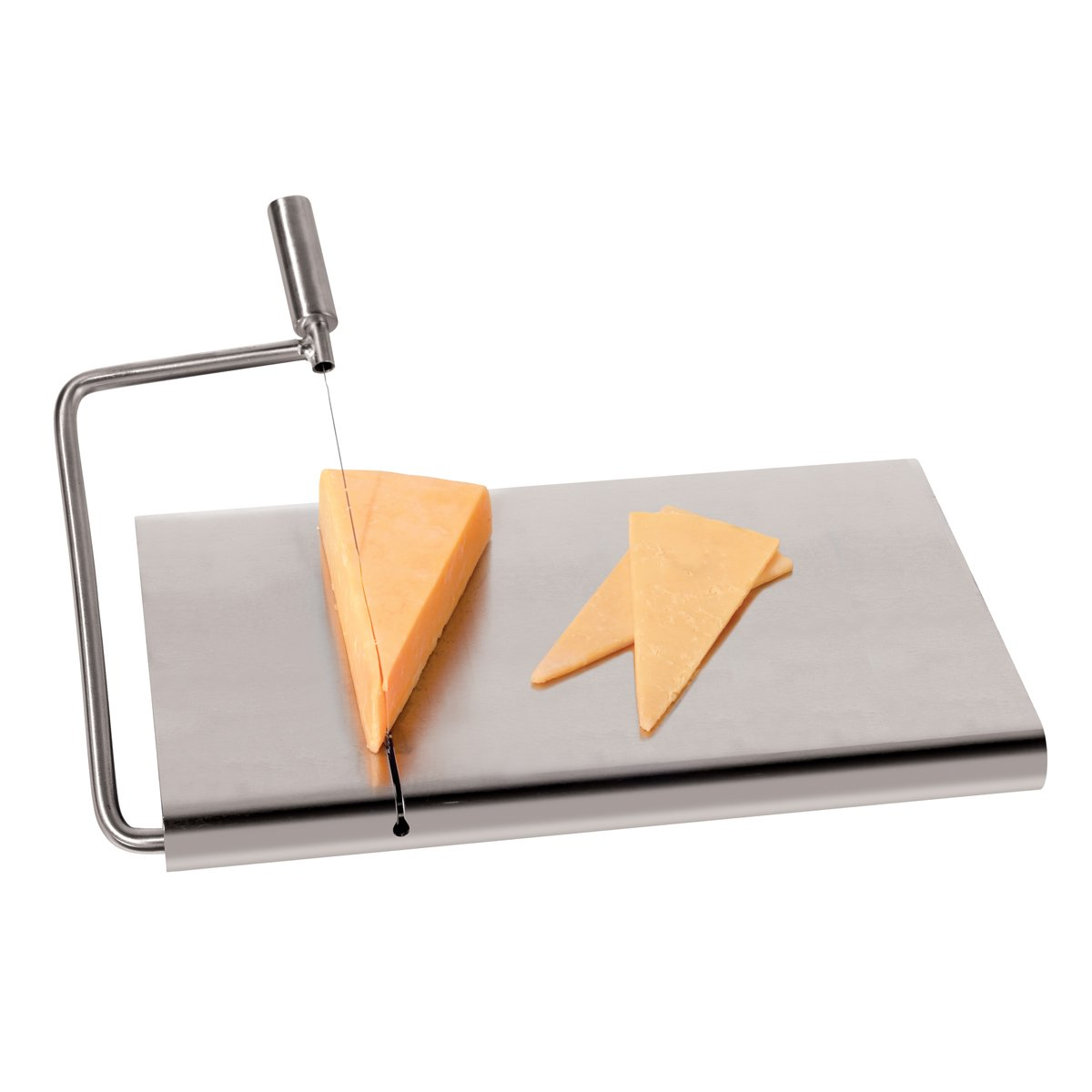 Amazon.com: Oggi 7540 Stainless Steel Cheese Cutting Board with Wire ...