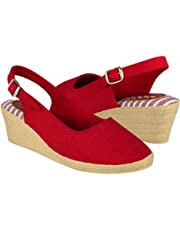 STYLO Sandalias Costa CURRI Textil Rojo