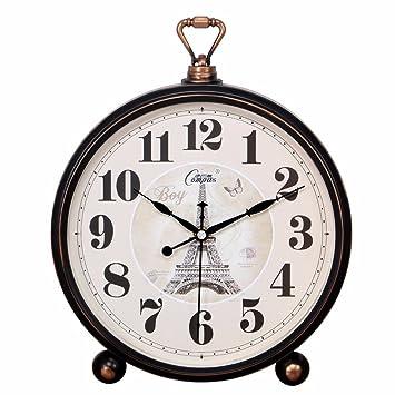 Komo silencioso Moderno Decoración Adorno para Hogar El jardín Creativo Reloj de Pared Reloj Retro Reloj de sobremesa Personalizado Reloj de Cuarzo de 25cm ...