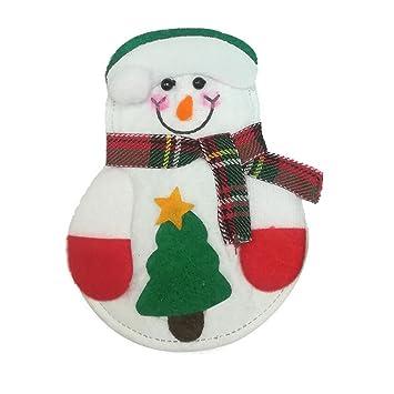 Adornos de Navidad Papá Noel Muñeco de nieve para cubertería
