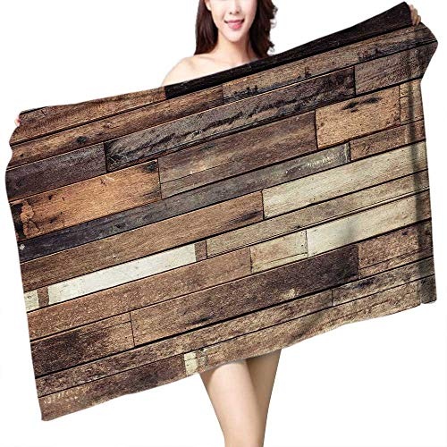 UHOO2018 Baby Bath Towel Old Wood Plank Print Wrap Towels W 10'' x L 39.5'' by UHOO2018 (Image #3)