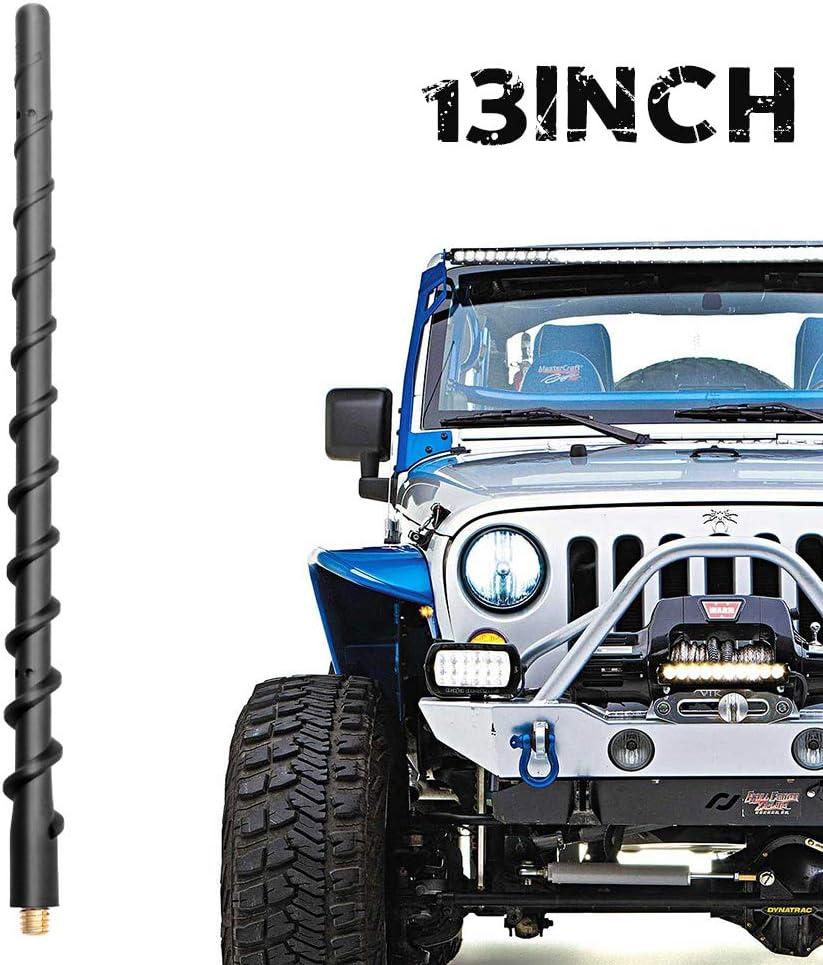 Suuonee Car Replacement Antenna 13 Inch Plastic//Steel Black Car Replacement Antenna Aerial Fit For Jeep Wrangler JK JKU JL 2008-2017
