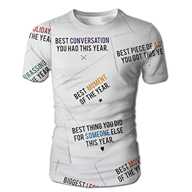 Men\'s 3D All Over Printed T-Shirt New Year words Best Moment Casual ...