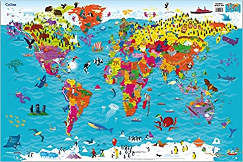 Collins childrens world map amazon collins maps steve collins childrens world map amazon collins maps steve evans 9780008114732 books gumiabroncs