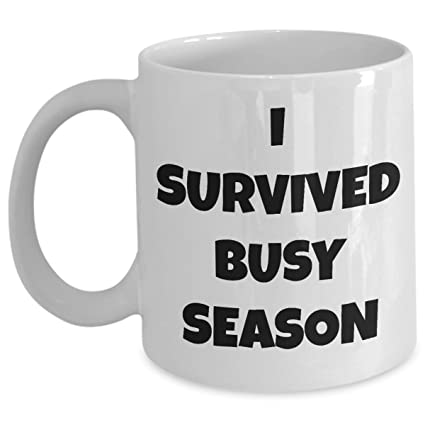 a6313331 Funny Accountant Coffee Mug - I Survived Busy Season - Cute Gifts For Accountants  Accounting Gift