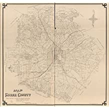 """Vintage 1887 Map of Bexar County - Shows land ownership. - """"San Antonio, June 7th 1887."""" - LC Land ownership maps, 897 - Available also through the Library of Congress Web site as a raster image. Bexar County, Texas, United States"""