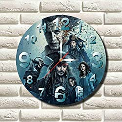 Pirates of the Caribbean 11.8'' Handmade MAGIC WALL CLOCK FOR DISNEY FANS made of acrylic glass - Get unique décor for home or office – Best gift ideas for kids, friends, parents and your soul mates