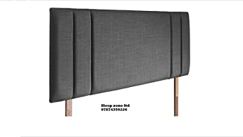 Mm08enn New Side Bar Bed Headboard In Linen Fabric Available In And Sizes (3ft Single, Charcol) by Mm08enn