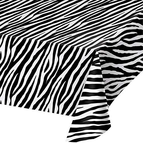Zebra Print Plastic Tablecloths, 3 -
