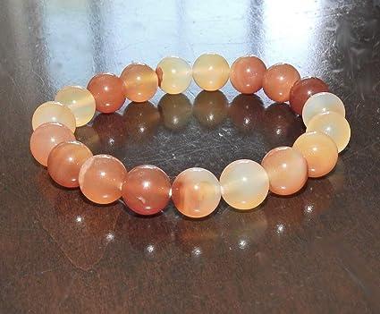 Intention bracelet Natural CARNELIAN chunky healing bracelet 10 mm genuine Carnelian gemstones Love /& Romance healing jewelry Luck