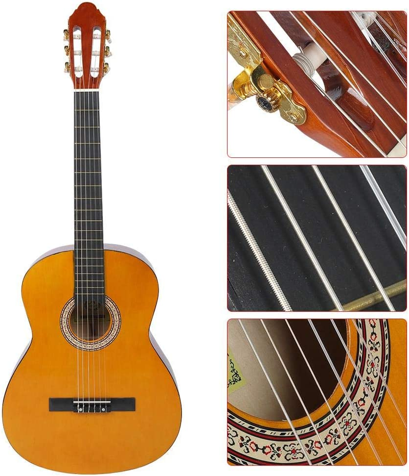 Bnineteenteam Guitarra clásica, Tilo Naranja Guitarra clásica con ...