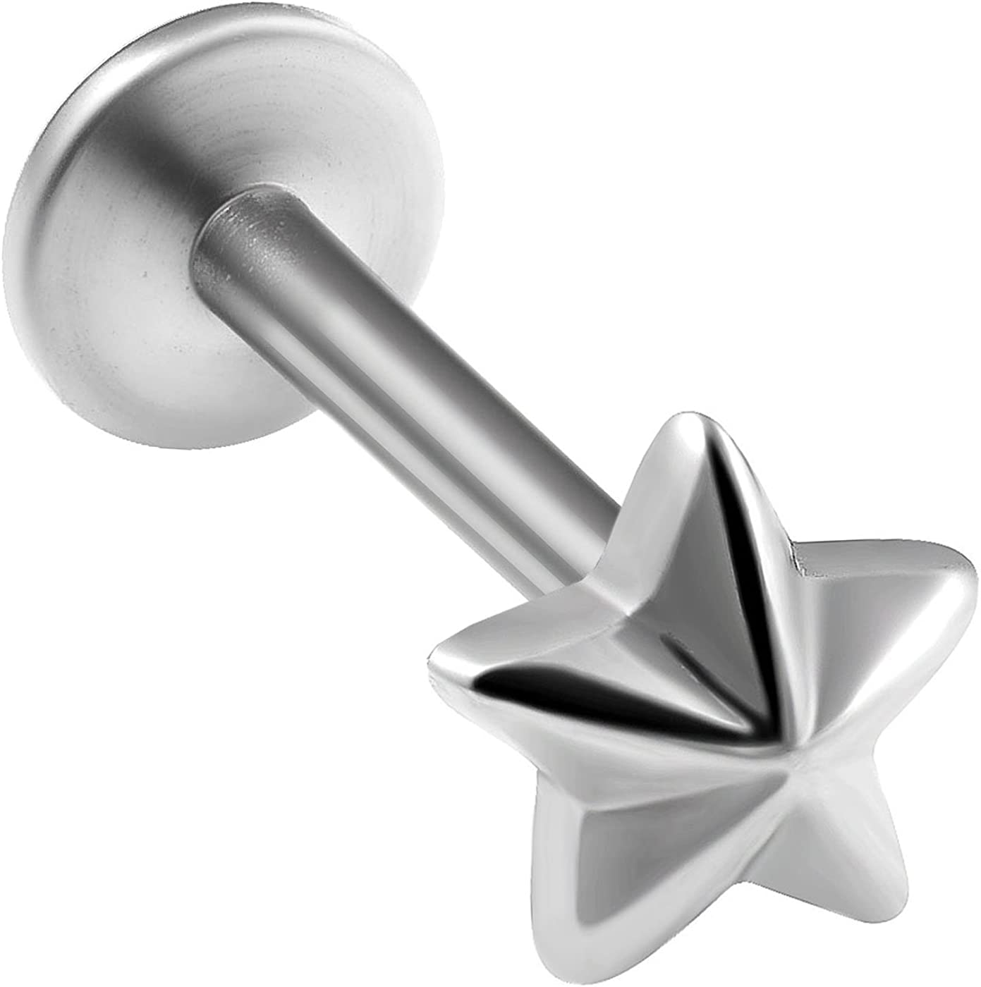 bodyjewellery 1pcs Lip Stud Earrings Dahlia Ring bite Threaded Monroe Tragus Lip Internally Stud Snake Helix Forward Star Shaped top BKAU