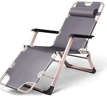 ZHX Silla Plegable portátil de Acampada reclinable reposera ...