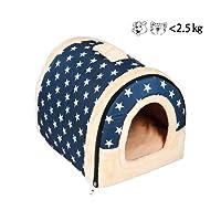 Enko Cuccia/letto 2 in 1 per animali domestici, portatile e pieghevole, elegante e comoda, per uso in ambienti interni, per cani e gatti.(Adatto per <3 kg di gatti e cani)