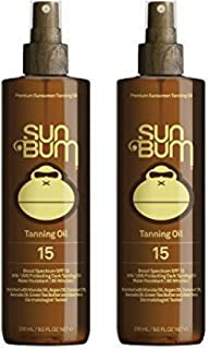 product image for Sun Bum Moisturizing Browning Oil, SPF 15 - 9oz Bottle, Protecting Dark Browning Oil, Organic Coconut Oil, Aloe Vera (2 pack)