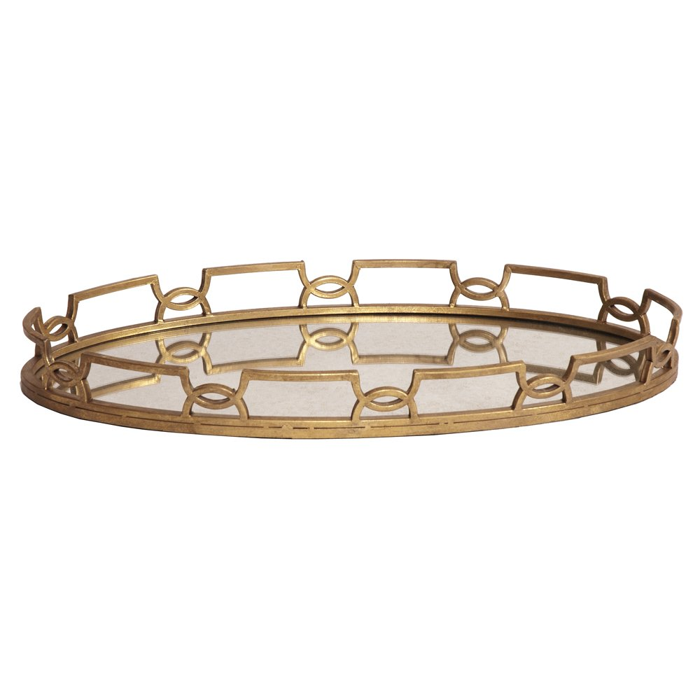 Howard Elliott 11222 Bright Metal Tray, Gold