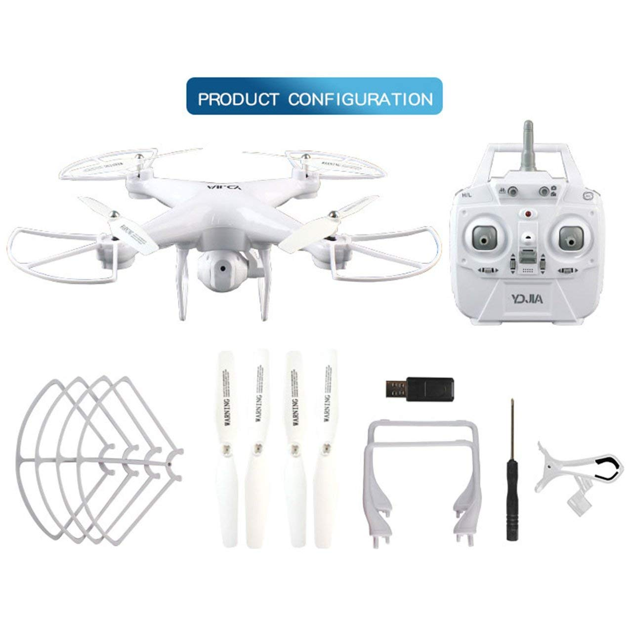 Redstrong D68W-3 720P HD WiFi Camera FPV RC Drone with Altitude Hold Headless Mode
