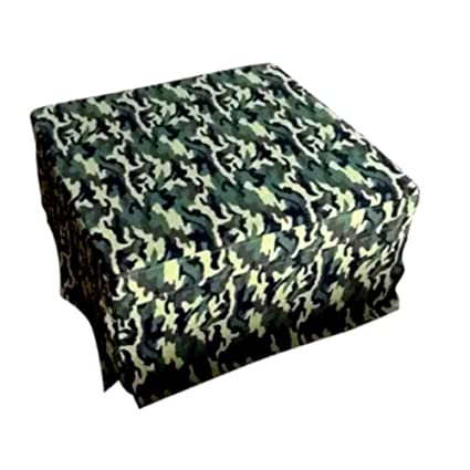 Image Unavailable. Image Not Available For. Color: Extra Large Cocktail  Ottoman, Square Green Camouflage Army Rectangular Ottoman Coffee Table ...