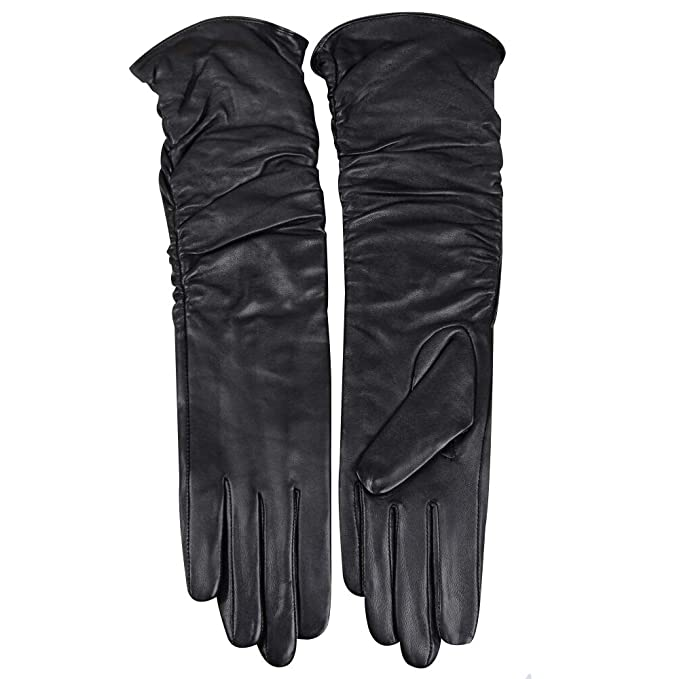 Vintage Style Gloves- Long, Wrist, Evening, Day, Leather, Lace Womens Winter Long Evening Dress Texting Touchscreen Leather Gloves Sleeves Fleece Lined Ruched Elbow Length Costume $42.99 AT vintagedancer.com