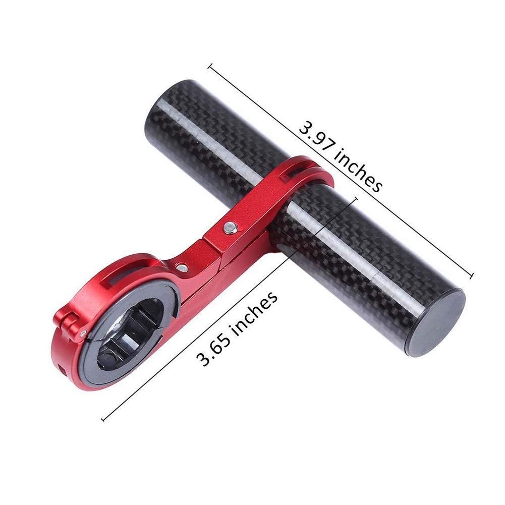 Rouge lujiaoshout V/élo Guidon Extender Extension v/élo Cadre Rack en Fibre de Carbone Support de Fixation pour Montage Lampe de Poche t/él/éphone