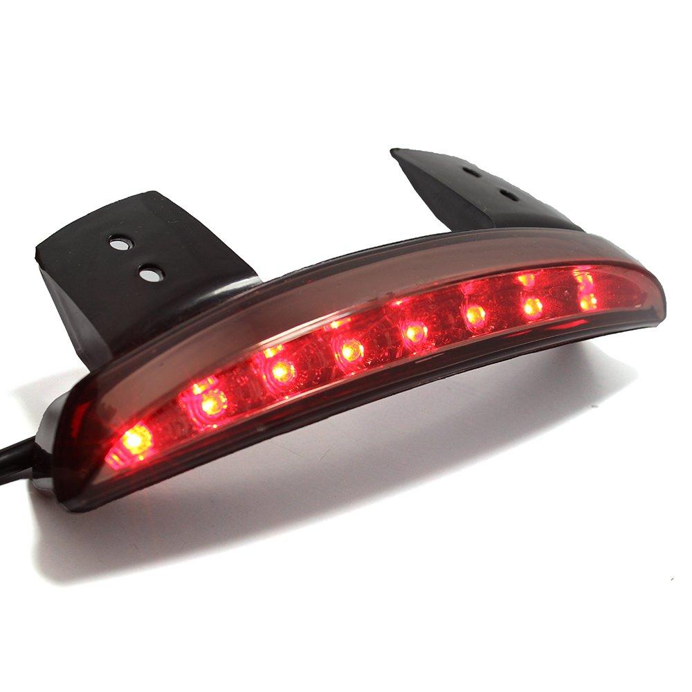 Smoke Lens Motorcycle LED Rear Brake License Plate Tail Light Stop Running Lamp for Harley Davidson Cruiser