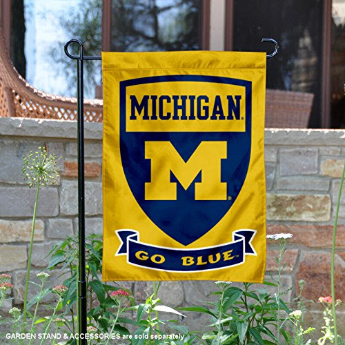 College Flags and Banners Co. Michigan Wolverines Shield Gar