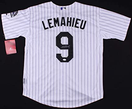 e934a9e2e14 Image Unavailable. Image not available for. Color  Dj Lemahieu Autographed  Signed Colorado Rockies Jersey - JSA Certified