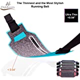 ANJ Outdoors Super Slim Water Resistant Money Belt, Running Belt for Women and Men, Expandable Phone Belt to Hold Cell Phones, Cards, and Money. Ideal Waist Bag Waist Pack for Travel, Sports and Yoga