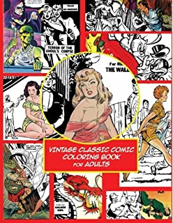 Vintage Classic Comic Colouring Book For Adults Creative Coloring Inspirations