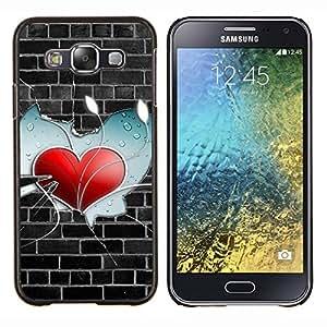 TECHCASE---Cubierta de la caja de protección para la piel dura ** Samsung Galaxy E5 E500 ** --Heart Pared