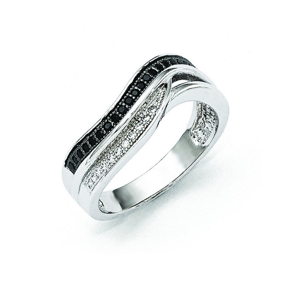 Sterling Silver /& Cz Brilliant Embers Ring