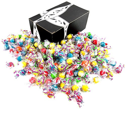 Cry Baby Extra Sour Bubble Gum, 2 lb Bag in a BlackTie Box (Peanut Allergy Safe Halloween Candy)