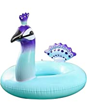 ZSNICE Inflatable Pool Float for Kids/Adult Weight Below 170 Pound,Floating Ring Water Toys Summer Outdoor Swimming Pool Inflatable Float Peacock