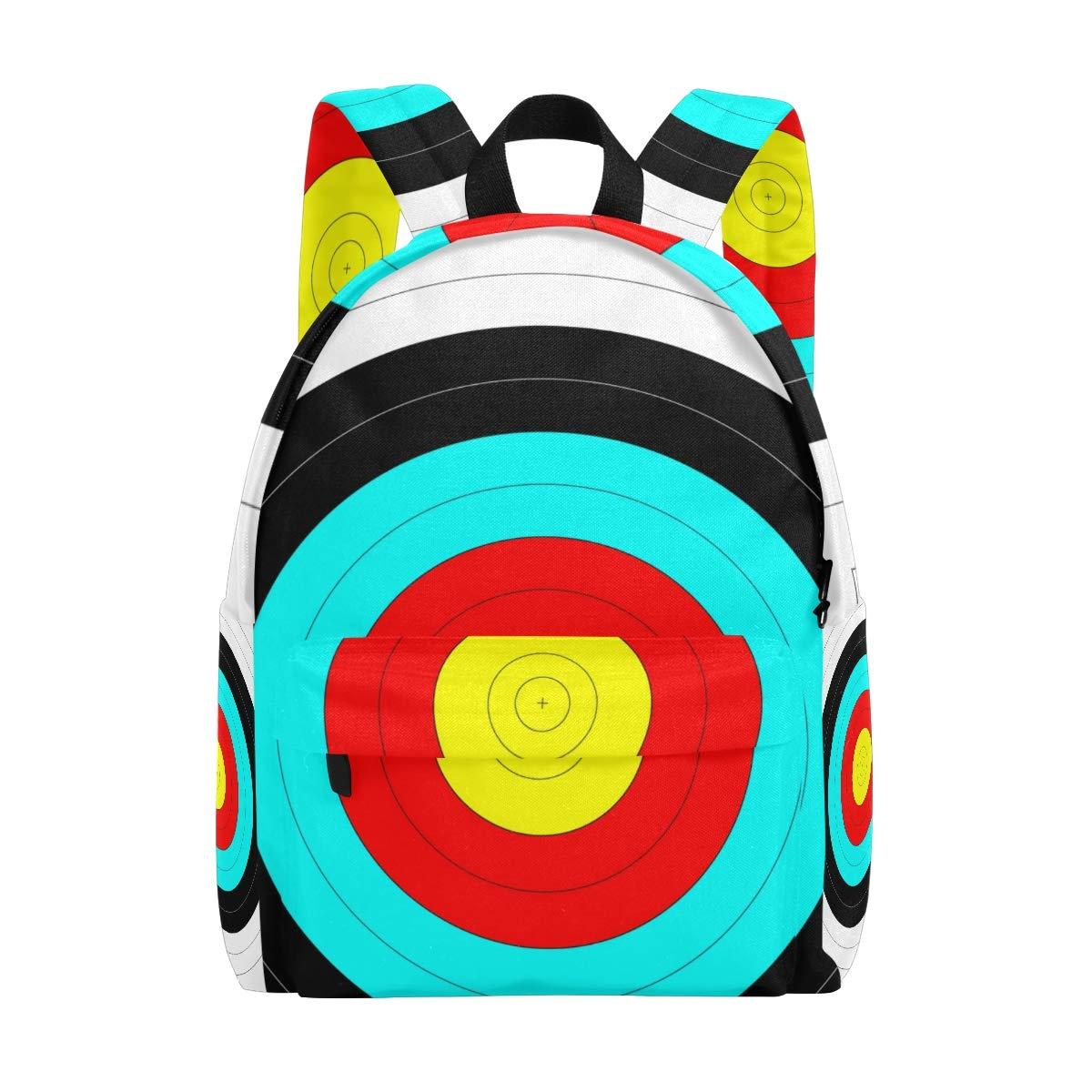 Simple Art Circle Score Archery Target Backpack Shoulder Travel School Bag Daypack Rucksack by LONK