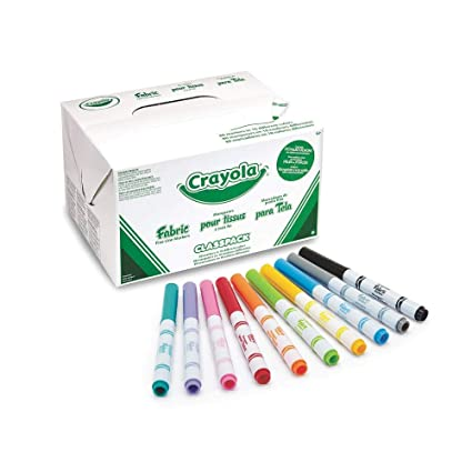 9e71f5019546 Amazon.com  Crayola 588215 Fabric Marker Classpack