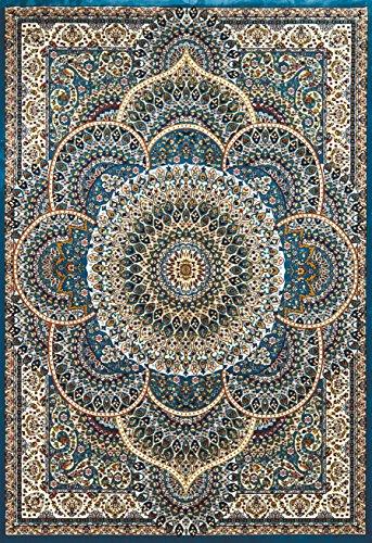 United Weavers of America Antiquities Sarouk Rug, Cerulean, 5'3