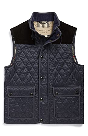 8672740e76 Burberry - Giacca - Gilet - Uomo Black Medium: Amazon.it: Abbigliamento