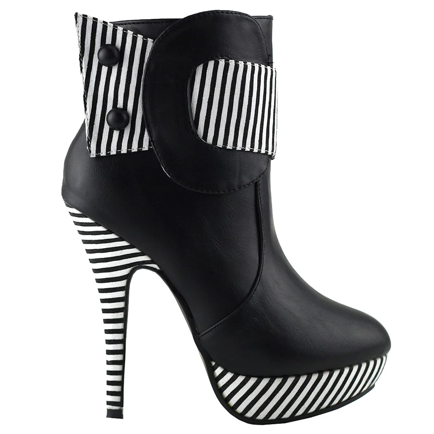 24c94cbbd135 Show story striped button zipper high heel stiletto platform ankle boots  ankle bootie jpg 1500x1500 Heels